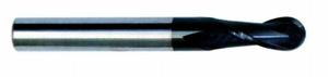 HRC 45 deg Tungsten Steel 2 Flute Ball Nose End Mills