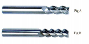 HRC 55 Deg Tungsten Steel 3 Flute End Mills for Aluminum